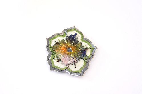 Bandhej Flower Small Brooch