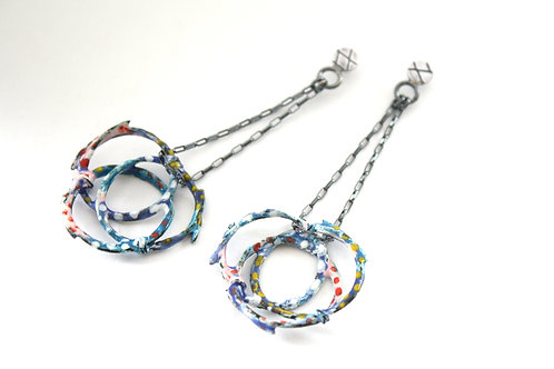 Gypsy circles dangling earrings