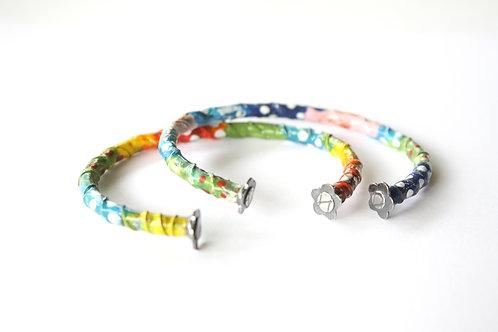 Rainbow-Dream Enamel Cuff