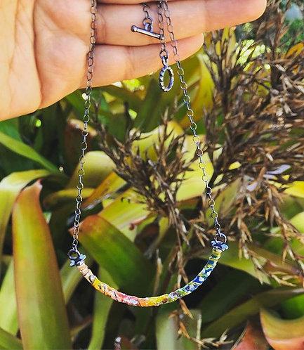 Color-Play Enamel Bead Necklace