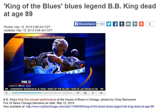 BB King on Fox32 Chicago