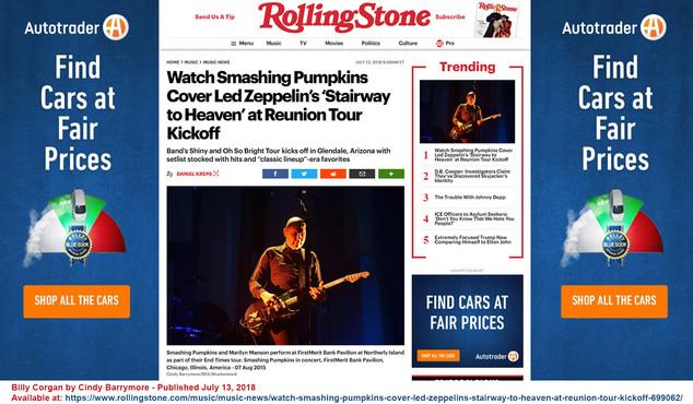Billy Corgan in Roling Stone in July