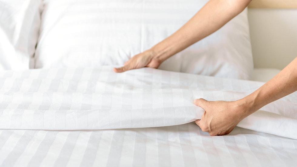 ชุดผ้าปูที่นอน Cotton 100% ลายริ้ว