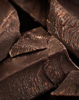 Stücke von Schokolade