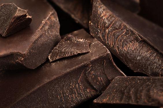 Des morceaux de chocolat