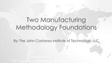 Manufacturing Methodologies