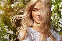 Beautiful blonde hair color