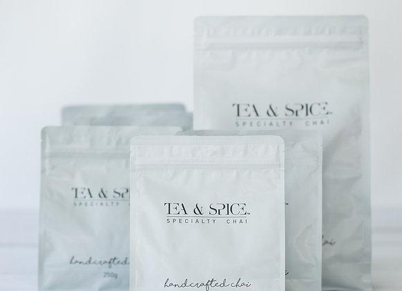 Tea & Spice Handcrafted 'Wet' Chai - Bundle (6 x 250g bags + 1 x 1kg bag)