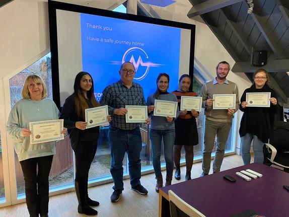 Meddev attendee certificates