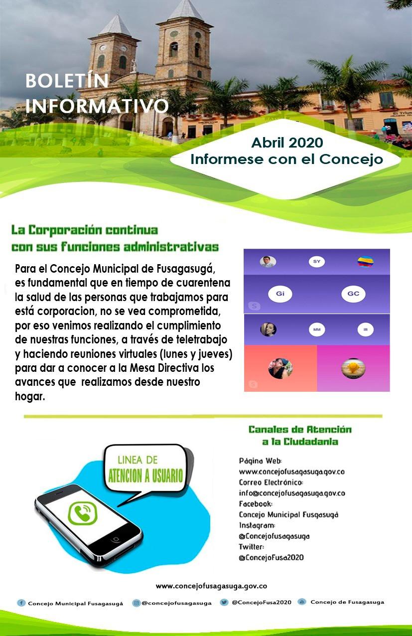 Boletín Informativo - 18 Abril 2020