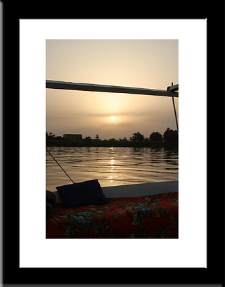 The Nile framed print