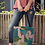 Thumbnail: Landscape with Pink Birds Tote bag