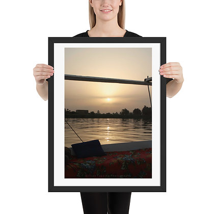 The Nile at Sunset framed photograph