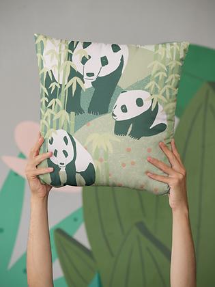 Panda Family Premium Pillow