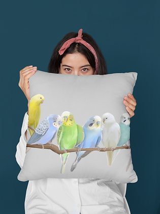 'Malcolm's Budgies' Premium Pillow