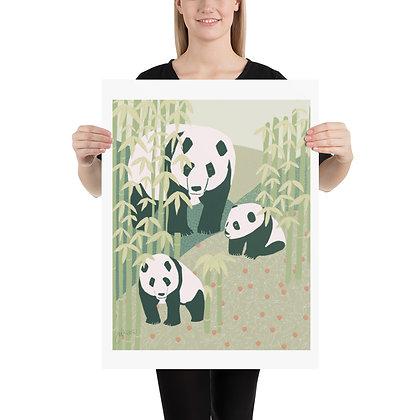 Panda Family unframed drawing