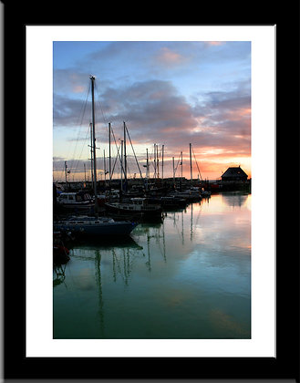 The Harbour at Dawn framed print