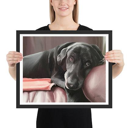 'Ruby' framed drawing