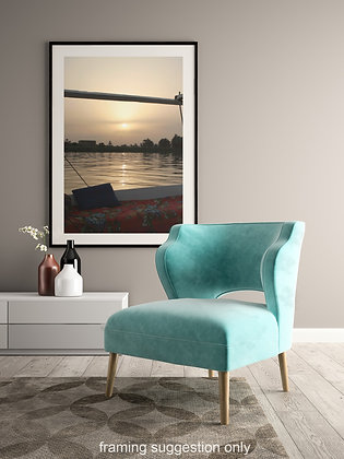 The Nile at Sunset unframed photograph