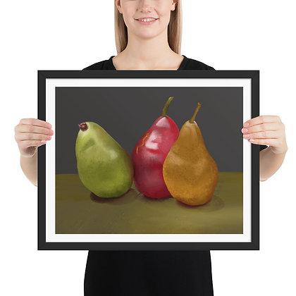 Pears Still Life framed drawing