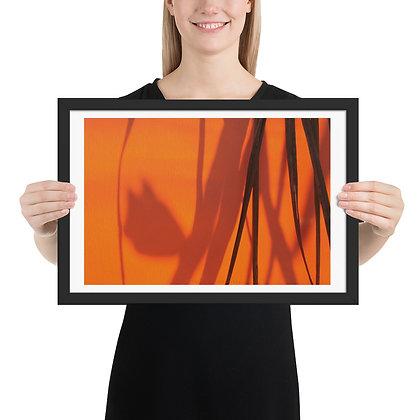 Shadows on Orange framed photograph