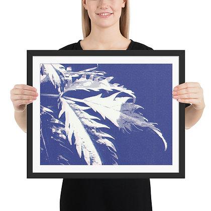 Blue Leaf framed print