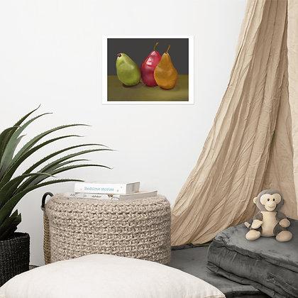 Pears Still Life unframed drawing