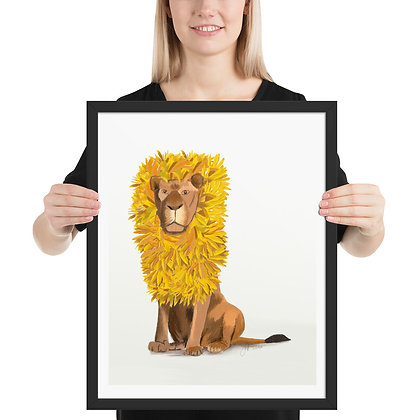 Andy Lion framed drawing