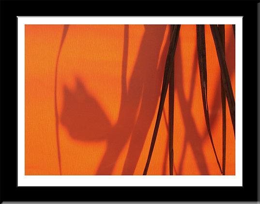 Composition with Orange framed print