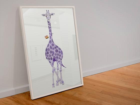 Geri Giraffe framed drawing