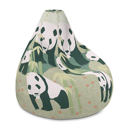 Panda Family Bean Bag Chair Cover