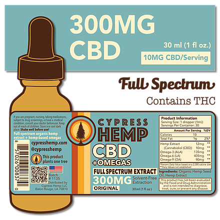 Cypress Hemp Full Spectrum 300mg CBD+OMEGAS™