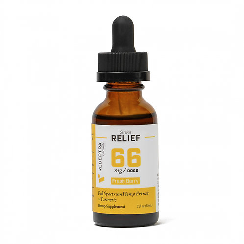 Receptra Serious Relief + Turmeric Tincture 66mg/dose