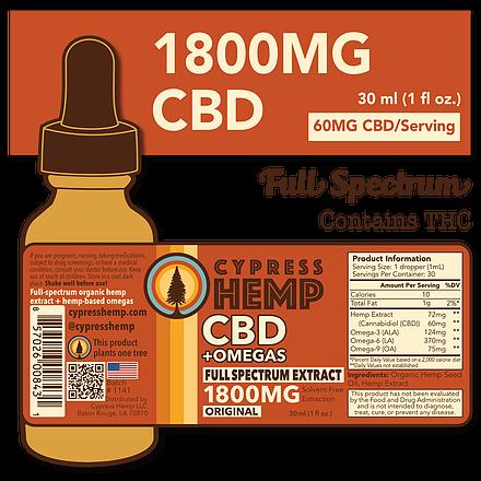 Cypress Hemp Full Spectrum 1800mg CBD+OMEGAS™