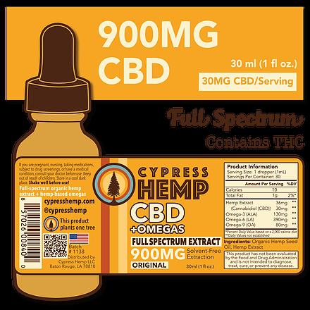 Cypress Hemp Full Spectrum 900mg Oil