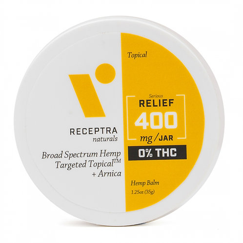 Receptra Serious Relief + Arnica Targeted Topical 0% THC