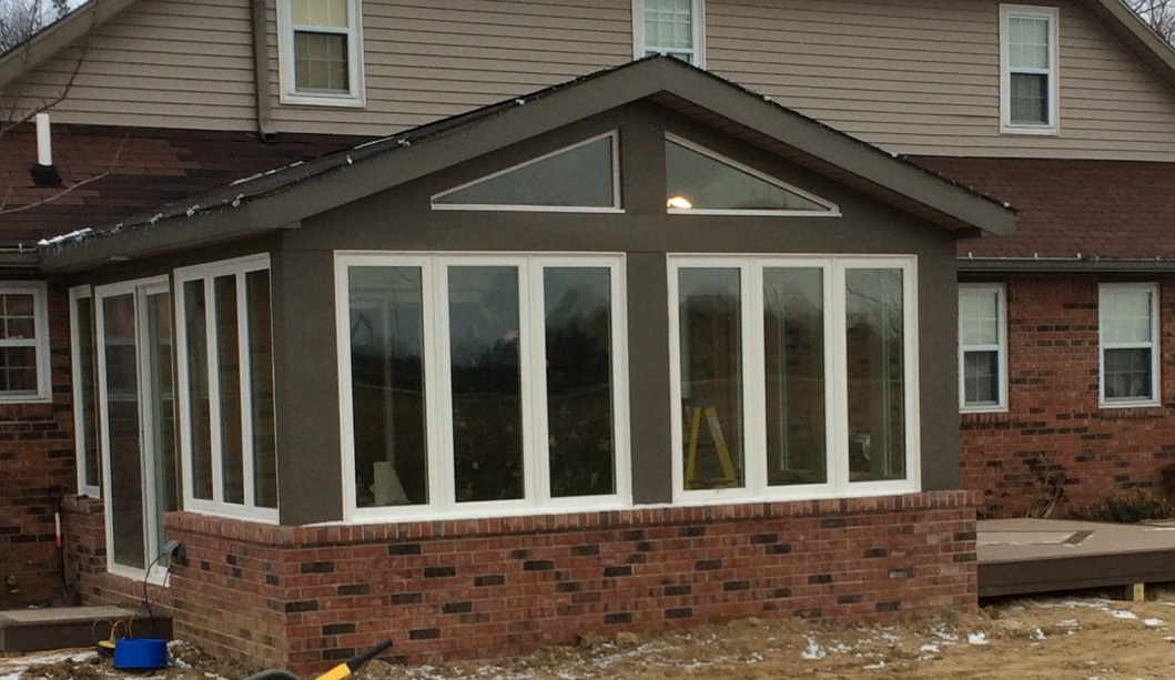 Custom Sunroom- Nearing completion!