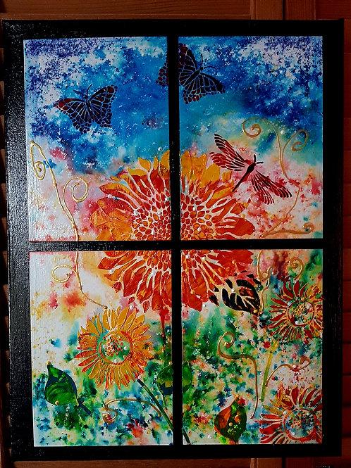 SUNFLOWER THRU MY WINDOW