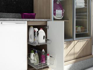 Chega de bagunça: como organizar a lavanderia