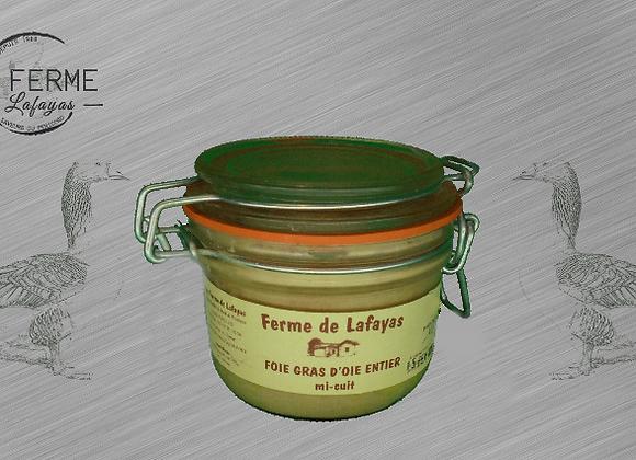 Foie gras de canard entier mi cuit bocal 130 g