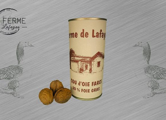 Cou d'oie farci 20% de foie gras 300 g