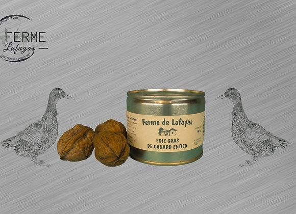 Foie gras de canard entier boite 190 g