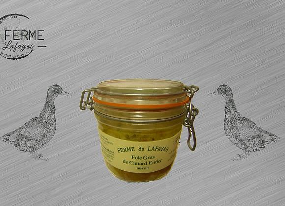 Foie gras de canard entier mi cuit bocal 310 g