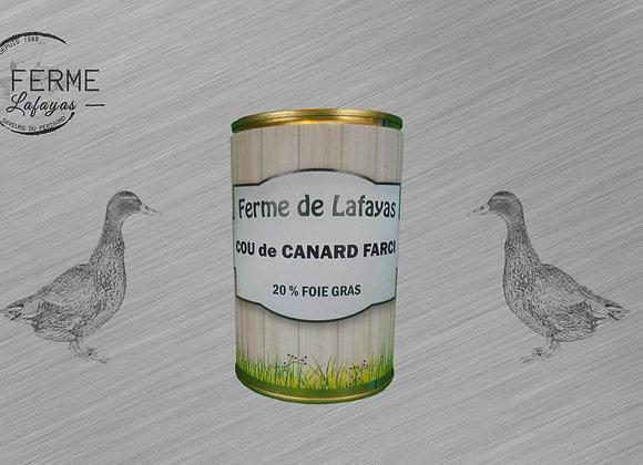 Cou de canard farci (20% foie gras)