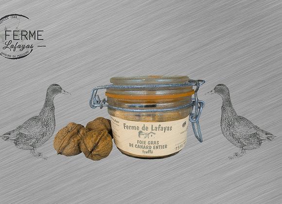 Foie gras de canard entier truffes bocal 310 g