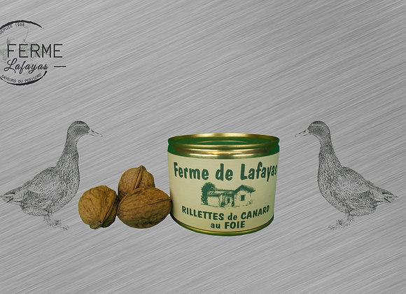 Rillettes de canard au foie 250 g