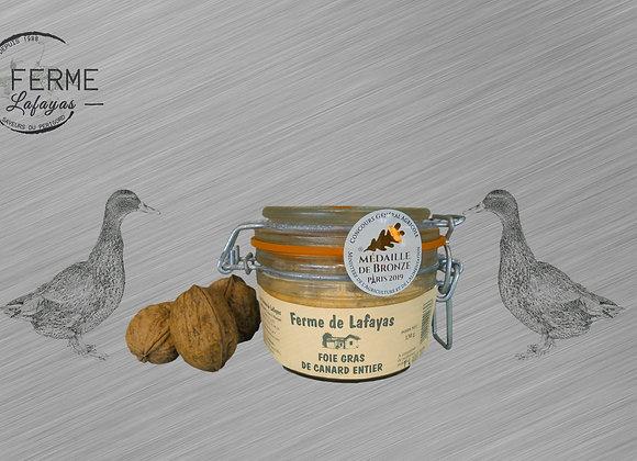 Foie gras de canard entier bocal 130 g