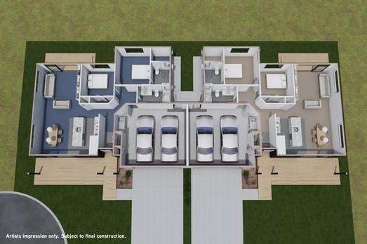 Type 1: 2 bedroom - floorplan
