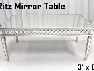 Ritz Mirror Sweetheart Table