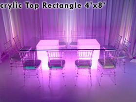 4' x 8' Acrylic Rectangle Top